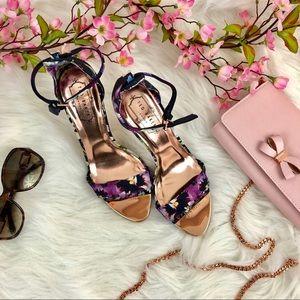 NIB TED BAKER Beautiful Floral Charv Printed Heels